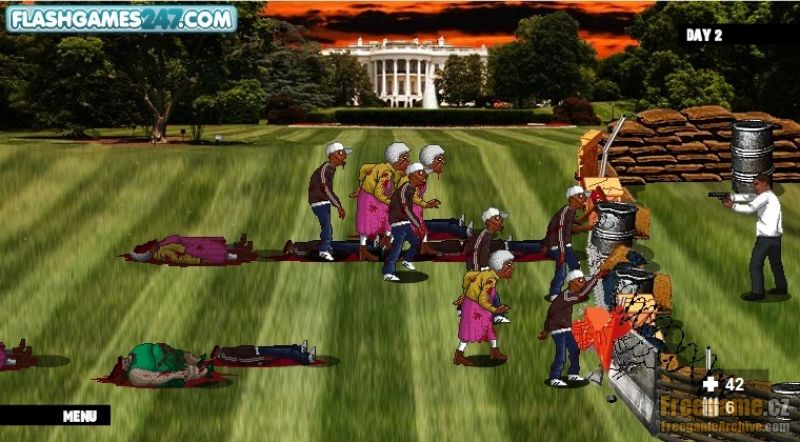 Obama vs zombies freegamearchive com