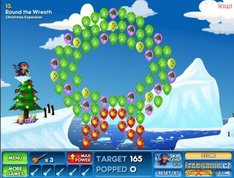 Bloons 2 Christmas Pack - Freegamearchive.com