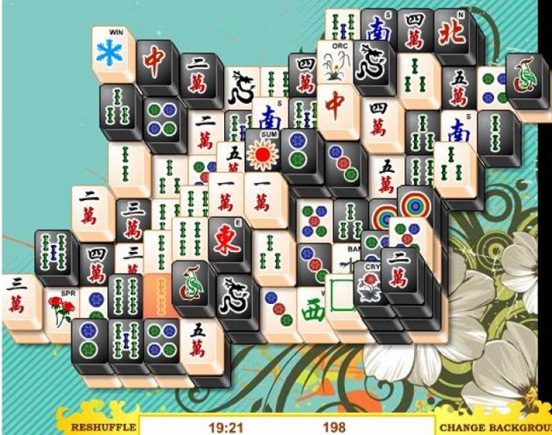 free online games mahjong black and white