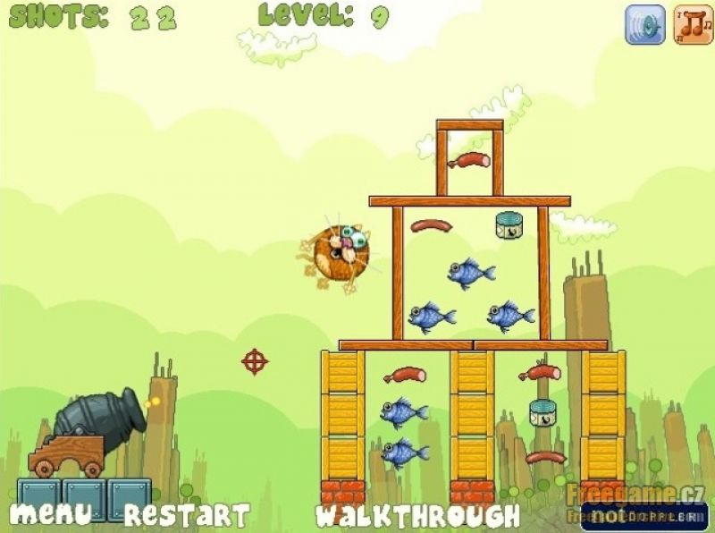 Cat A Pult  Flash Game
